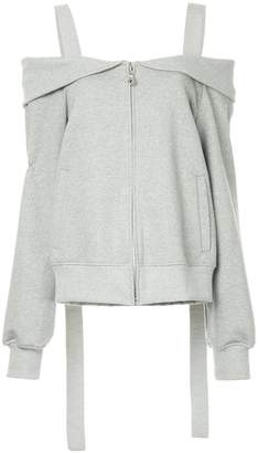 Goen.J layered off-shoulder jacket