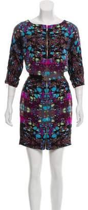 Mara Hoffman Silk-Blend Zip-Up Mini Dress