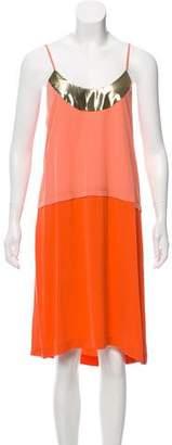 Diane von Furstenberg Silk Colorblock Dress w/ Tags