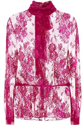 Balenciaga Lace pussybow blouse