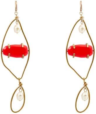 Marni Stone-embellished metal earrings