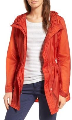 Women's Andrew Marc Teri Translucent Rain Jacket $150 thestylecure.com
