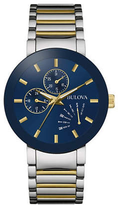 Bulova Multi-Function Classic Collection Silvertone and Goldtone Bracelet Watch