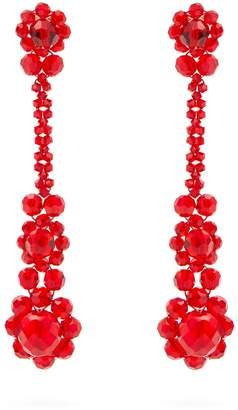 Simone Rocha Beaded-tassel drop earrings