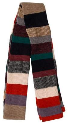 Marc by Marc Jacobs Striped Wool-Blend Scarf