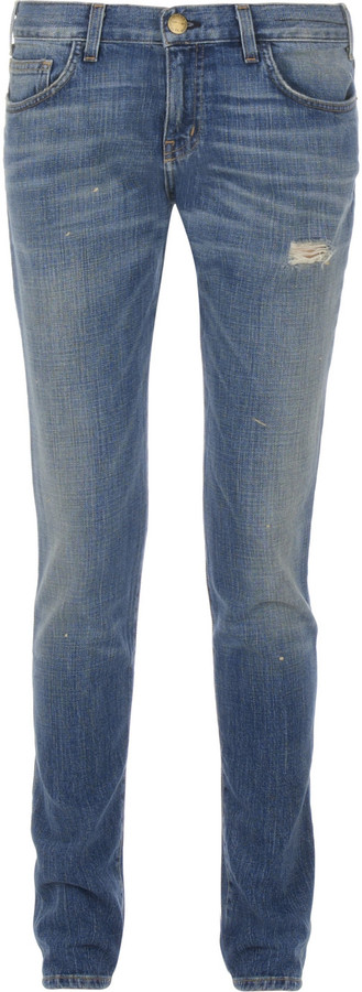 Current/Elliott The Super Slouchy Skinny mid-rise jeans