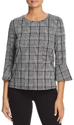 Finn & Grace Glen Plaid Bell Sleeve Top - 100% Exclusive