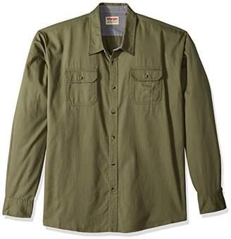 Wrangler Authentics Men's Big & Tall Long-Sleeve Classic Woven Shirt