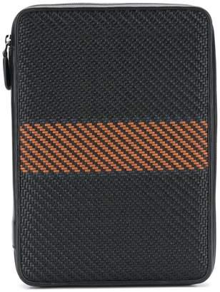 Ermenegildo Zegna Pelle Tessuta laptop bag
