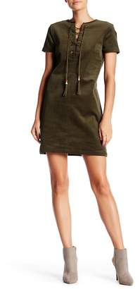 Romeo & Juliet Couture Short Sleeve Corduroy Dress
