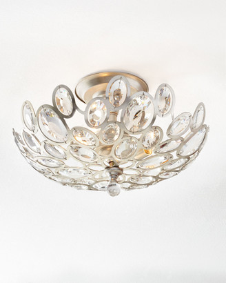 Crystal Ovals 3-Light Flush-Mount Ceiling Fixture