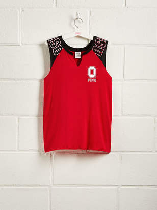 PINK The Ohio State University Colorblock Muscle Tank