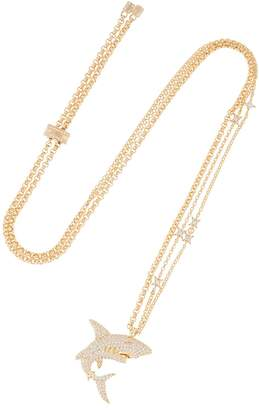 Shark Necklace With Stars