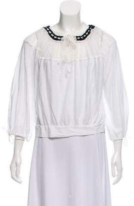 Jean Paul Gaultier Tie-Accented Long Sleeve Top