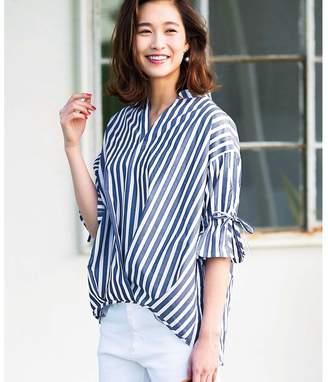 ジーラバイリュリュ GeeRA by RyuRyu タック&リボン使いスキッパーシャツ