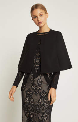 BCBGMAXAZRIA Short Cape Jacket