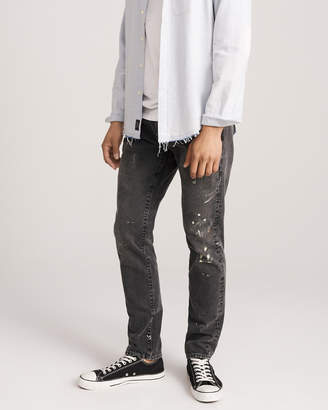 Abercrombie & Fitch Paint Splattered Skinny Jeans