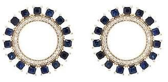 Ileana Makri Women's Glimmer Sun Stud Earrings - Blue