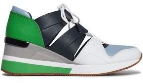 MICHAEL Michael Kors Color-block Cutout Leather Sneakers