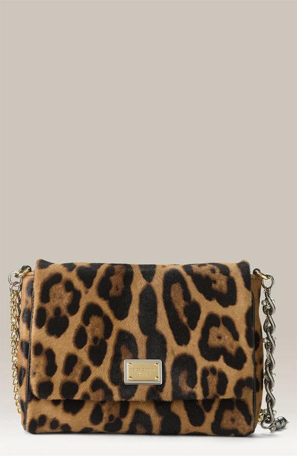 Dolce&Gabbana 'Miss Charles' Leopard Print Flap Bag
