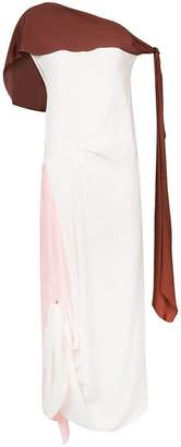Marni draped one shoulder dress