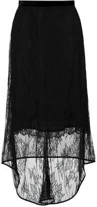 Tufi Duek asymmetric lace skirt