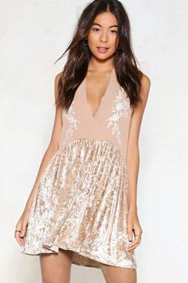 Nasty Gal Just Can't Velvet Embroidered Dress