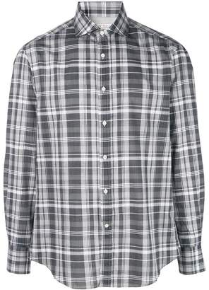 Brunello Cucinelli check print shirt