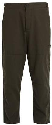 Oliver Spencer - Judo Tapered Leg Cropped Cotton Trousers - Mens - Green