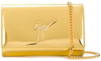 Giuseppe Zanotti Design metallic logo clutch bag