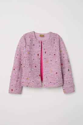 H&M Beaded Jacket - Pink - Women