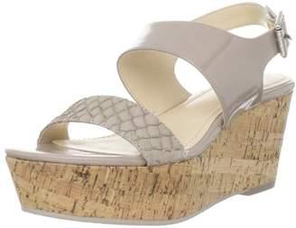Calvin Klein Women's Lorianne Two-Tone Patent Platform Sandal