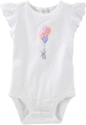 Osh Kosh Oshkosh Bgosh Baby Girl Love Ruffle Sleeve Bodysuit