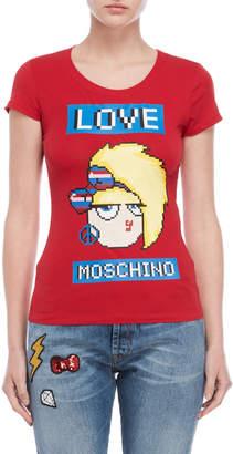 Love Moschino Red Graphic Tee