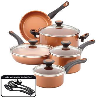 Farberware r) Glide(tm) Copper Ceramic Nonstick Cookware Set, Copper, 12-Piece