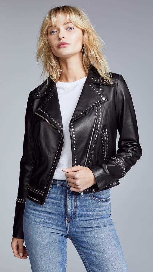 YVES SALOMON - METEO Perfecto Leather Jacket