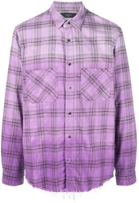 Amiri checked button down shirt