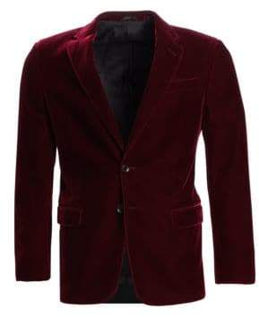 Giorgio Armani Slim Fit Stretch Solid Velvet Dinner Jacket