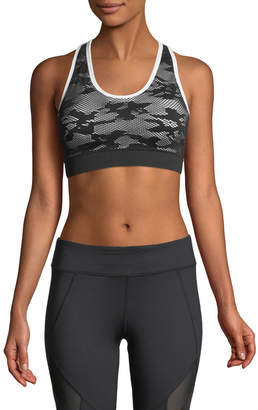 Marc NY Performance Jacquard Racerback Sports Bra