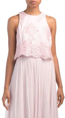 d0b9076fc3f26 Lace Top Dress In Pink - ShopStyle