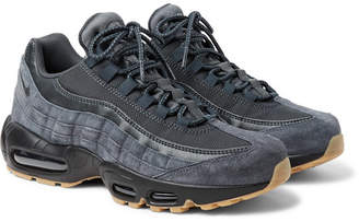 Nike 95 Se Mesh, Leather And Suede Sneakers