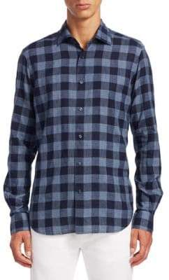 Saks Fifth Avenue COLLECTION Plaid Casual Button-Down Shirt