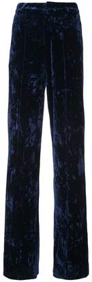 Ronny Kobo high-rise velvet trousers