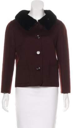 Christian Dior Fur-Trimmed Cashmere Jacket