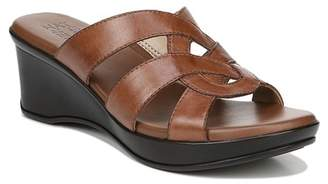 Naturalizer Violet Leather Wedge Sandal - Wide Width Available