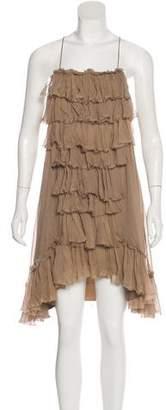 Thomas Wylde Silk Ruffle Dress