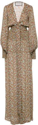 Alexis Esperanza Tie-Front Floral-Print Crepe Jumpsuit
