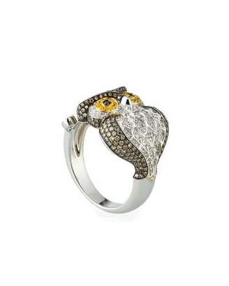 Roberto Coin 18k Two-Tone Diamond Owl Ring, Size 7.25