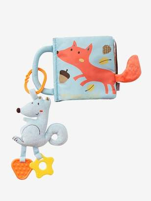 Activity Book & Soft Squirrel with Teethers - brown light solid with design