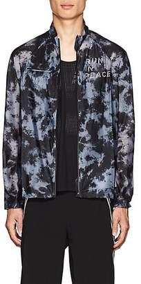 """Satisfy Men's """"Run In Peace"""" Tie-Dyed Jacket - Black"""